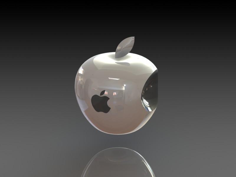 3d Apple Logo 3d Cad Model Library Grabcad