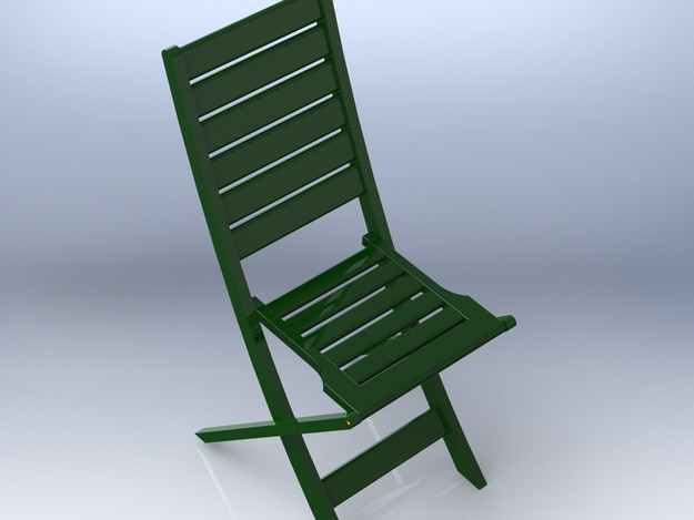 Chaise pliante solidworks 3d cad model grabcad for Chaise de jardin metal pliante