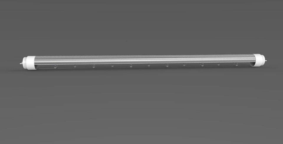 Led Tube Light | 3D CAD Model Library | GrabCAD