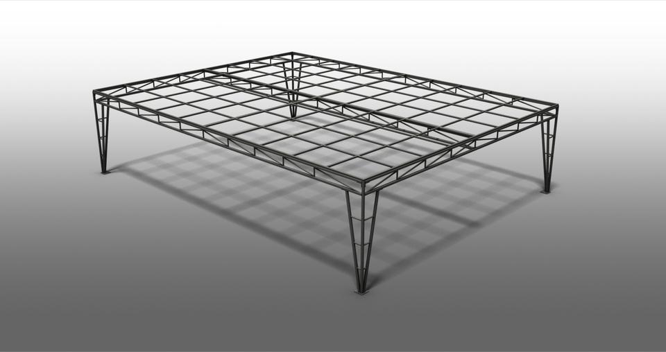 3d Galv Steel Pergola 3d Cad Model Library Grabcad