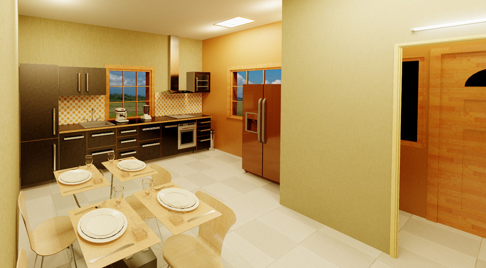 Revit Interior Kitchen 3d Cad Model Library Grabcad
