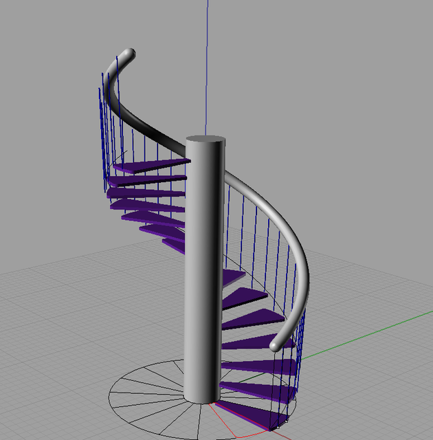 Spiral staircase rhino 3d cad model grabcad Spiral stair cad