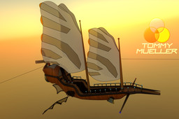 Steampunk Airship by Tommy
