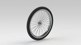 Rickshaw wheel