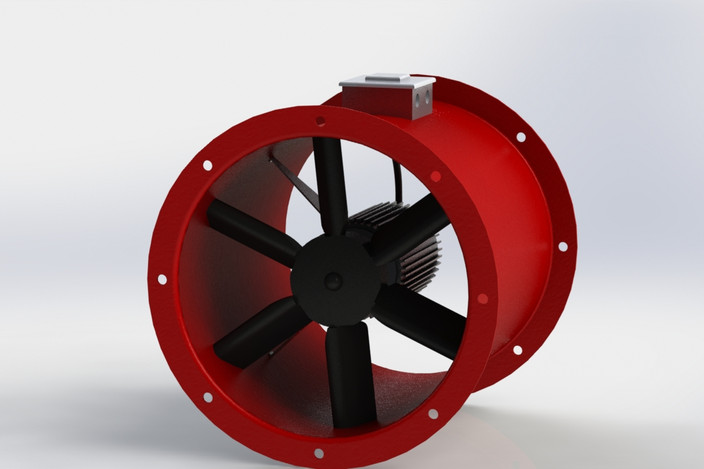 Axial Fan 315 Step Iges Solidworks 3d Cad Model