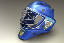 A goalie mask