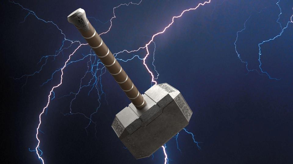 Thor S Hammer Mjolnir 3d Cad Model Library Grabcad