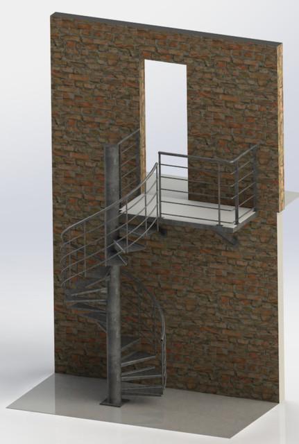 Escalier Et Palier 3d Cad Model Library Grabcad