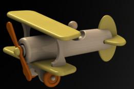 Wooden toy plane (Biplane & PDF)