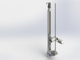 Chain hoist wearing test bench