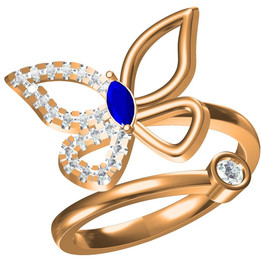 lovely butterfly ring