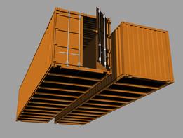 Container 40 feet, Hi Cube, marine