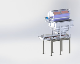 Hopper with belt feeder