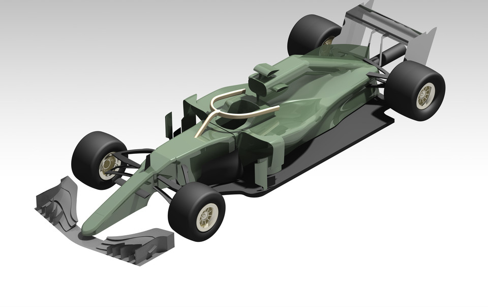 Mercedes AMG F1 W10 EQ Power+ | 3D CAD Model Library | GrabCAD
