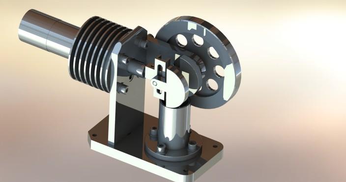 Horizontal stirling engine for Decor 9 stirling