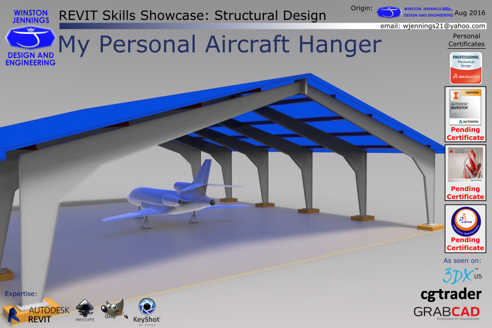 Revit Skills Showcase: My Personal Aircraft Hanger | 3D CAD