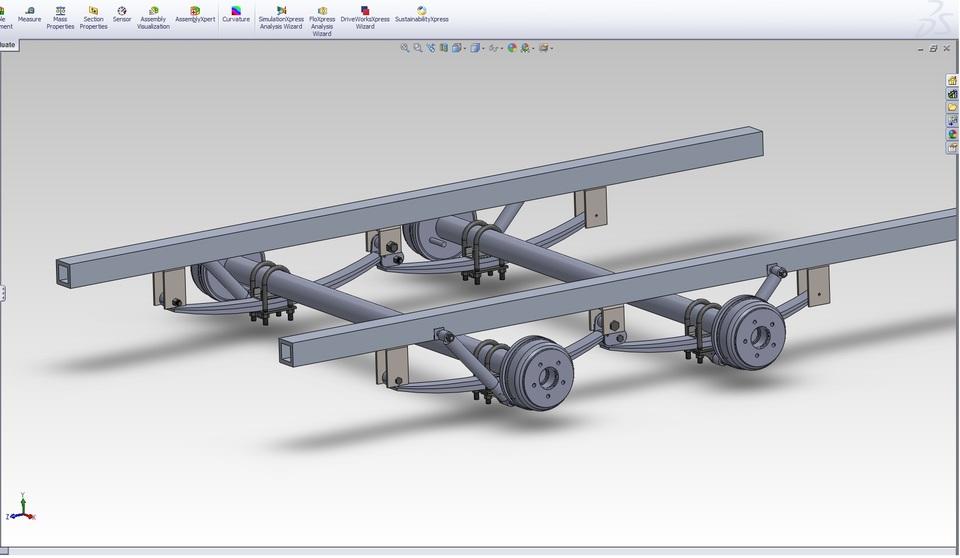 trailer suspension design tikitreiler   stl step iges