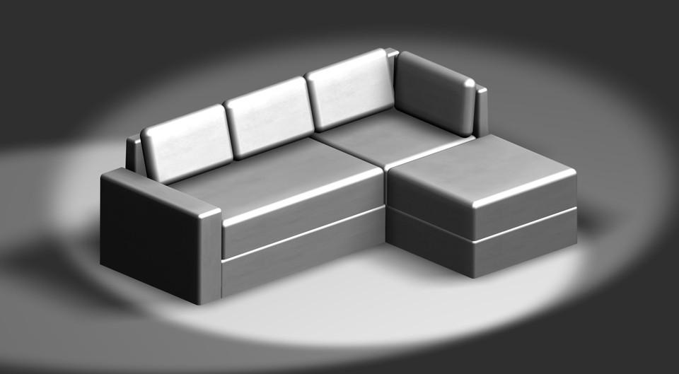 divano 3d cad model library grabcad