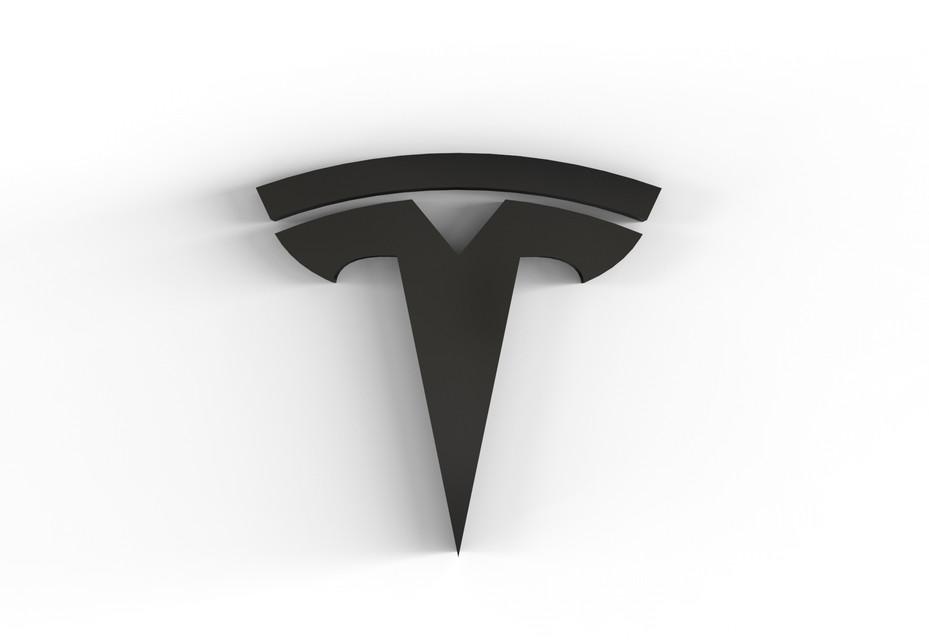 Tesla logo | 3D CAD Model Library | GrabCAD