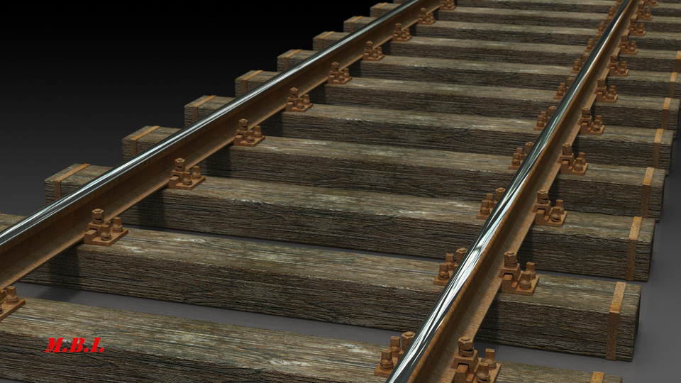 Railway track | 3D CAD Model Library | GrabCAD