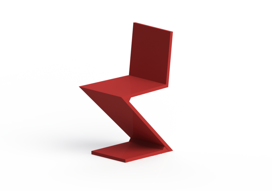 sc 1 st  GrabCAD & Zigzag Chair | 3D CAD Model Library | GrabCAD