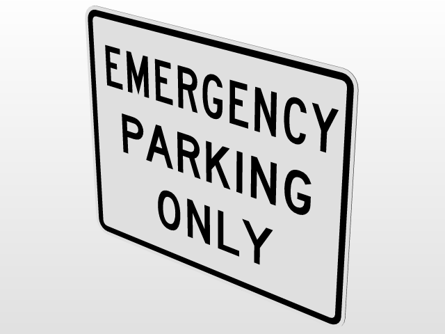 Emergency Parking Only R8-4/Emergency Stopping Only R8