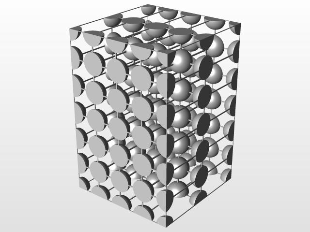 Estructura Tetragonal Simple Grupal 3d Cad Model Library