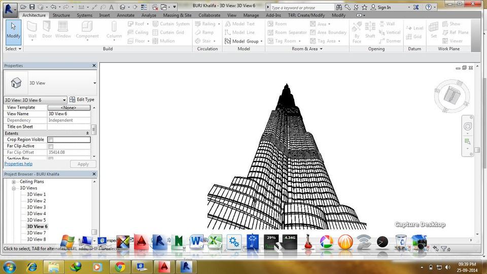 Burj khalifa (dubai )   3d cad model library   grabcad.