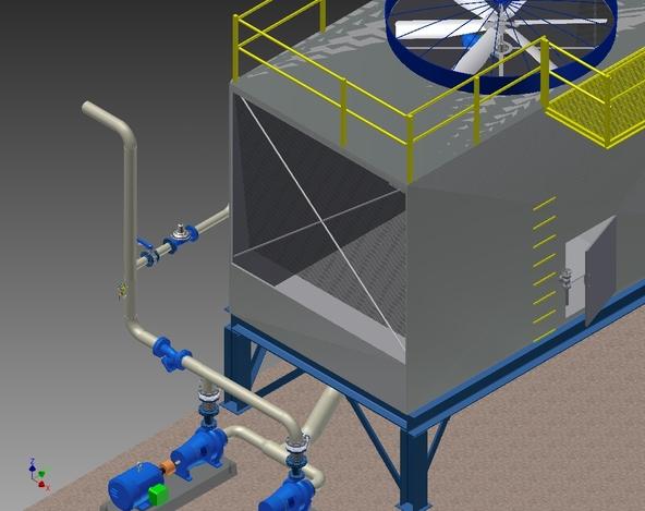 Cooling Tower - Autodesk Inventor, STL, STEP \/ IGES - 3D CAD model ...