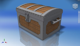 Pirate Chest - Treasure Box - Original Design by Jimmy DiResta