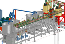 Process vessels, pipework, instrumentation