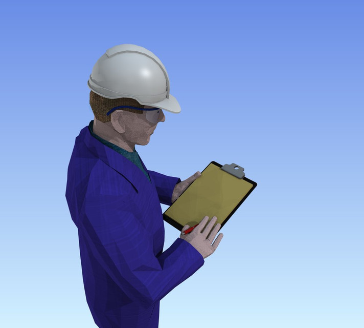 Construction Worker With Clipboard Autocad 3d Cad