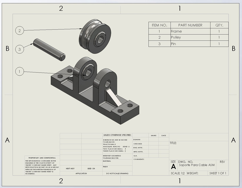 Solidworks 3d Model Cable Holder 3d Cad Model Library Grabcad