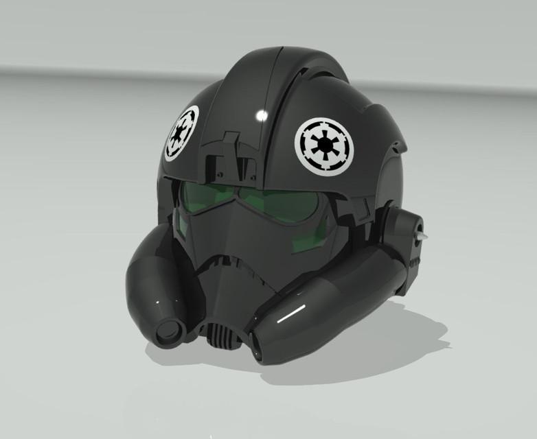 Star Wars: TIE fighter pilot's helmet. - STEP / IGES ... Tie Fighter Pilot Helmet