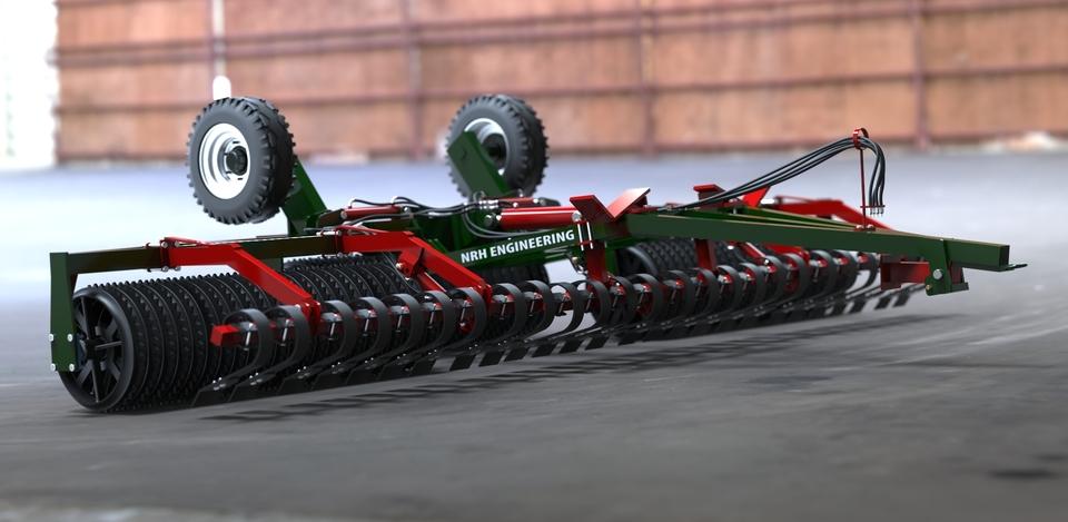 6m heavy duty soil roller step iges 3d cad model for Soil 3d model
