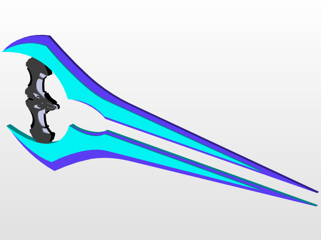 Halo Energy Sword | 3D CAD Model Library | GrabCAD