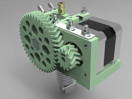Herringbone Extruder Driver - Onshape CAD