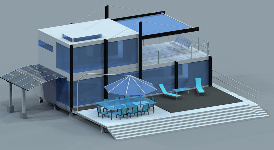 Shipping Container Home   AutoCAD   3D CAD Model   GrabCAD