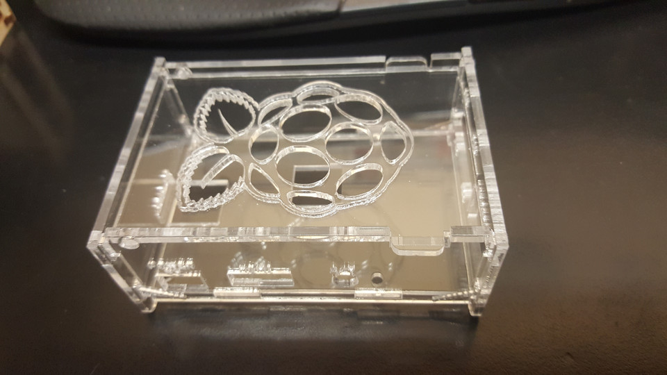 laser cut wood case for Raspberry pi 3 | 3D CAD Model
