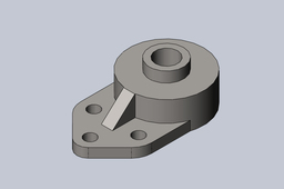 "3/4"" Bore 3-hole Flange Bearing"
