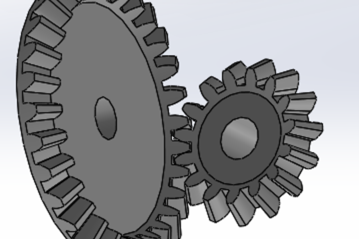 Bevel Gear Animation : Bevel gears library and animation solidworks d cad