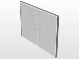 Harmonica Railing Door