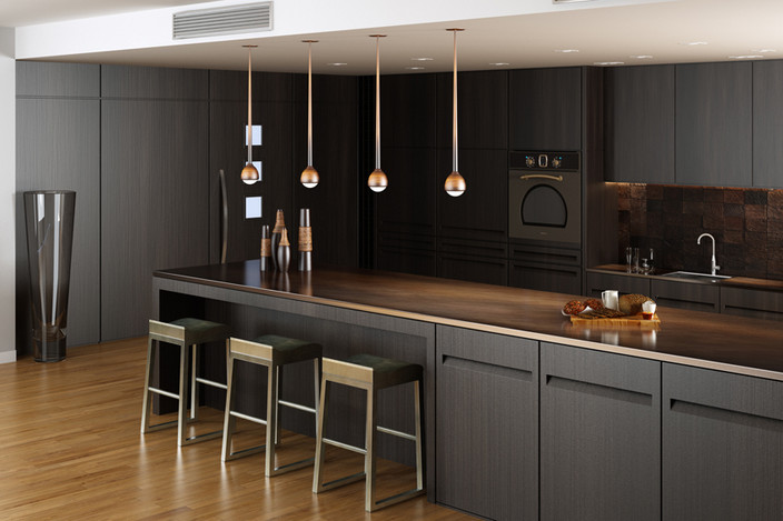 Dark modern kitchen for Kitchen furniture 3ds max free