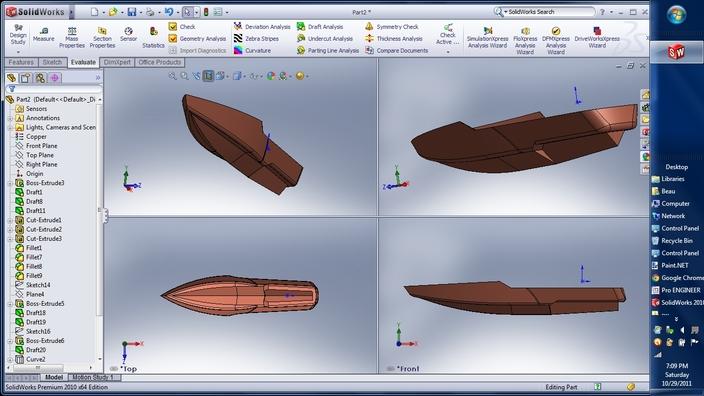 Radical boat hull design jobs