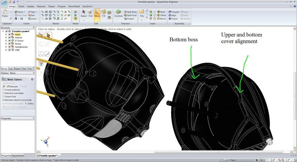 Portable speaker @ Darth Vader Style | 3D CAD Model