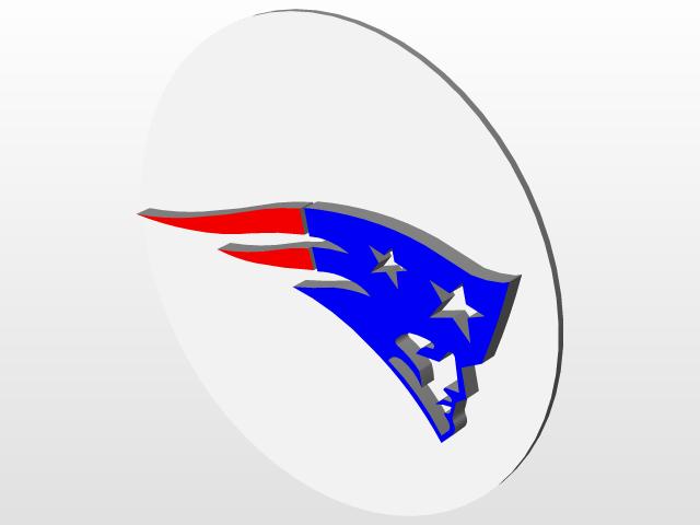New England Patriots Logo 3d Cad Model Library Grabcad