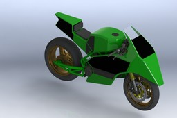 Motorcycle Frame and Fairing