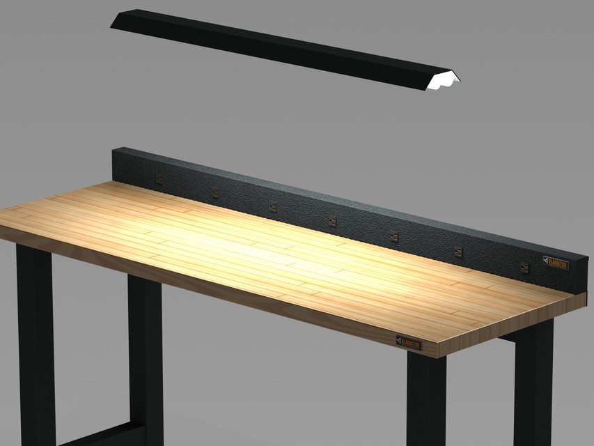 Excellent Gladiator 6 Ft Modular Workbench Gawb06Mtrg 3D Cad Model Uwap Interior Chair Design Uwaporg