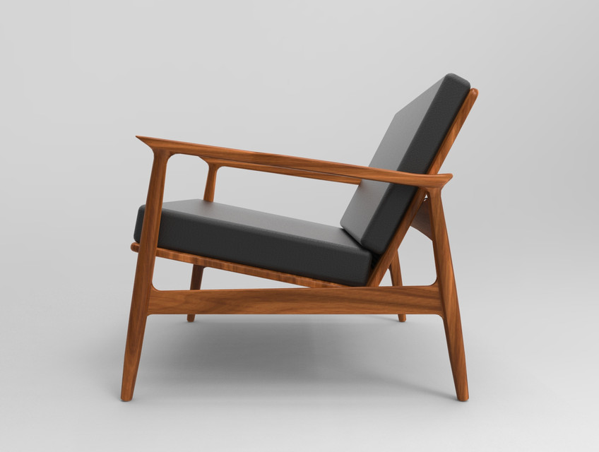 Wondrous Mid Century Modern Chair 3D Cad Model Library Grabcad Pdpeps Interior Chair Design Pdpepsorg