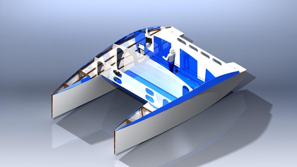 Plywood Catamaran